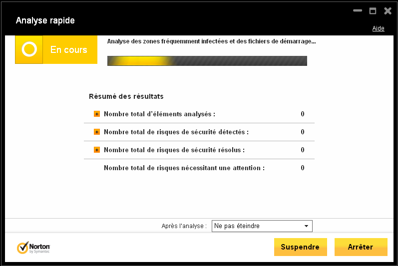 Norton 2013 Internet Security Analyse Rapide